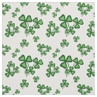 Irish shamrock, green clover fabric print 9