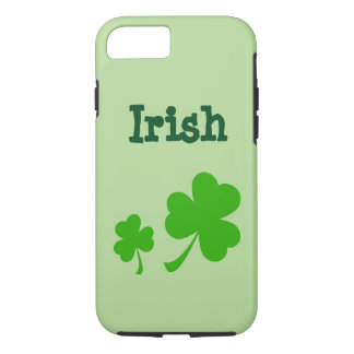 Irish Shamrock Green clovers iPhone 7 case