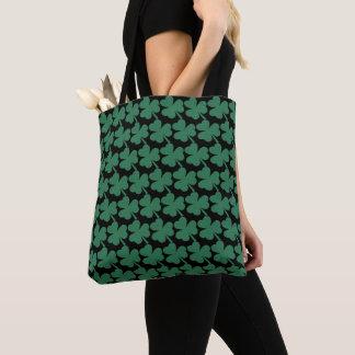Irish Shamrock Green Glitter St. Patrick's Day Tote Bag
