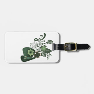 Irish Shamrock Hat Luggage Tag