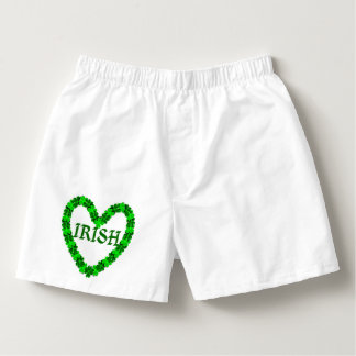 Irish Shamrock Heart Boxers