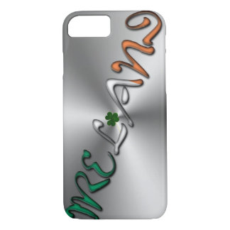 Irish Shamrock Ireland Typography Silver Gray iPhone 8/7 Case