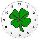 Irish Shamrock Large Clock