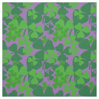 Irish shamrock, lavender, clover fabric print 10