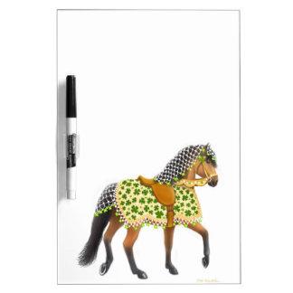 Irish Shamrock Parade Horse Dry Erase Board