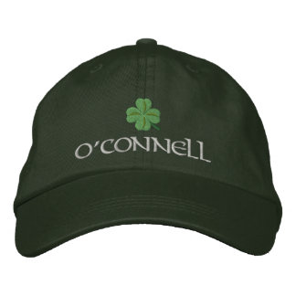 Irish shamrock personalized embroidered baseball cap