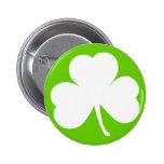 Irish Shamrock Pinback Buttons