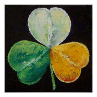 Irish Shamrock Print