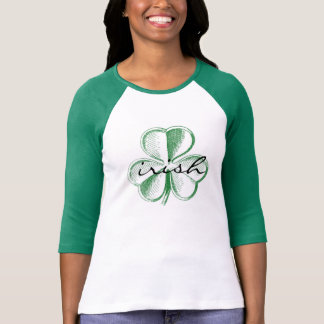 Irish Shamrock Raglan Top