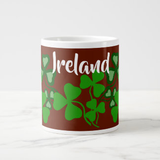Irish shamrock, red, Ireland, green clover 8 Large Coffee Mug