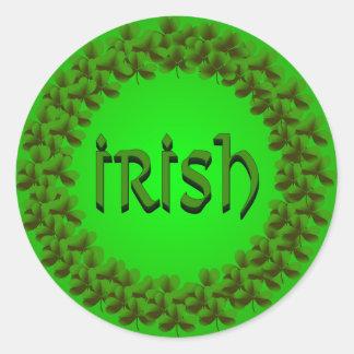 Irish Shamrock Ring Sticker