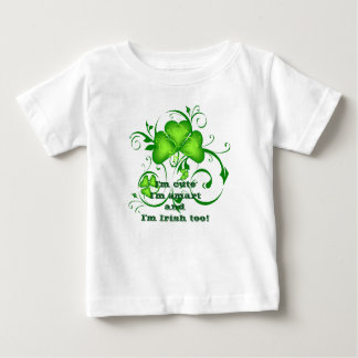 Irish shamrock saying baby T-Shirt