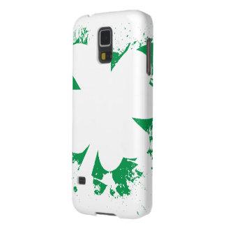Irish Shamrock Splatter Stencil Galaxy S5 Case