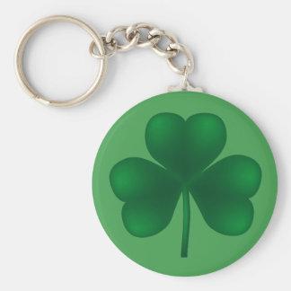 Irish Shamrock St Patricks Day Basic Keychain