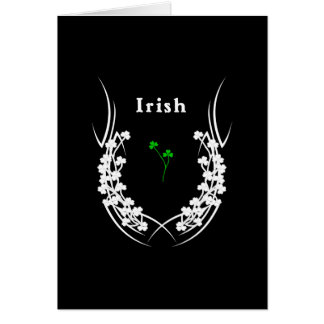 Irish Shamrock Tattoo Card