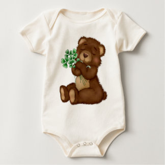 Irish Shamrock Teddy Baby Bodysuit