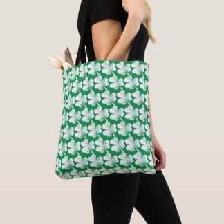 Irish Shamrock Vintage Pattern St. Patrick's Day Tote Bag