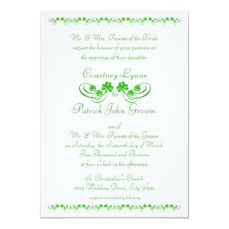 Irish Shamrock Wedding Card