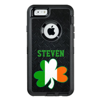 Irish Shamrock with Ireland Flag Name Phone Case