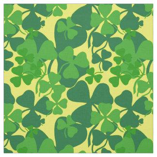 Irish shamrock, yellow, clover fabric print 10a