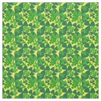 Irish shamrock, yellow, clover fabric print 10aa