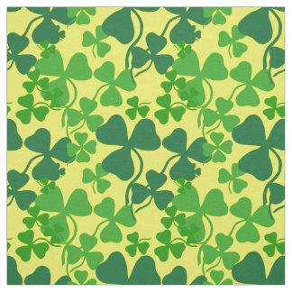 Irish shamrock, yellow, clover  fabric print 4