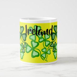 Irish shamrock, yellow, Ireland, 4 leaf clover 5 Large Coffee Mug