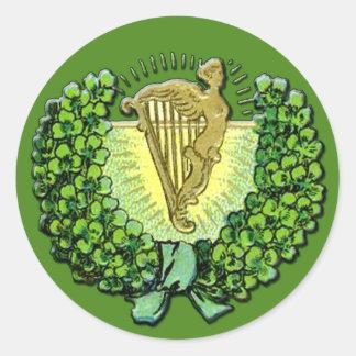 Irish Shamrocks and Harp Stickers