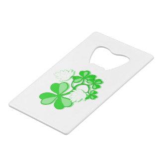 Irish Shamrocks Bottle Opener Wallet Bottle Opener
