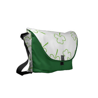 Irish Shamrocks Courier Bag