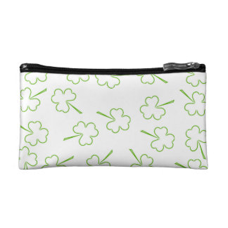 Irish Shamrocks double-sided Cosmetic Bag