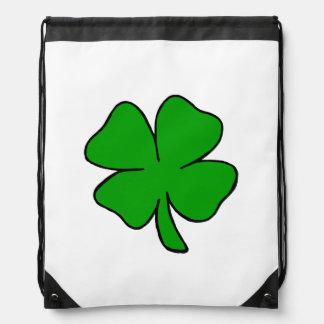 Irish Shamrocks Drawstring Backpack