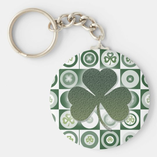 Irish shamrocks keychains & keyrings