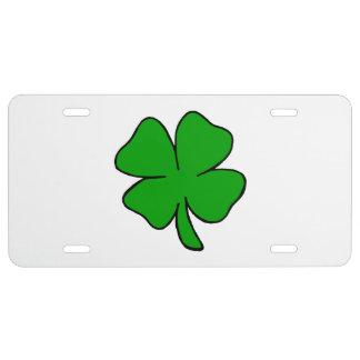 Irish Shamrocks License Plate