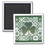 Irish shamrocks magnets