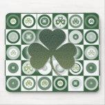 Irish shamrocks mousepads