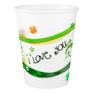 Irish Shamrocks Paper Cup