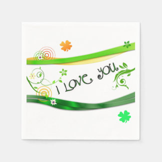 Irish Shamrocks Paper Napkin