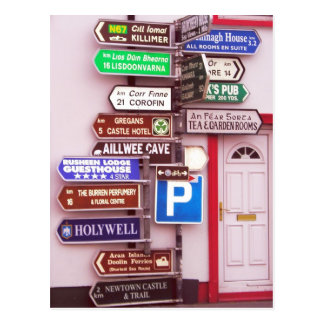 Irish Signpost Postcard