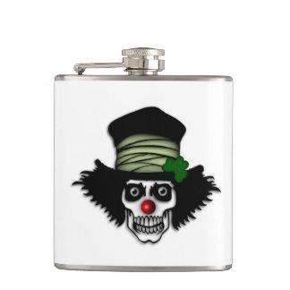 Irish Skeleton Clown Hip Flask