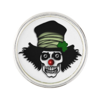 Irish Skeleton Clown Lapel Pin