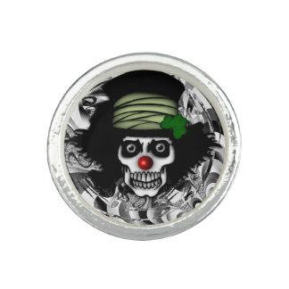 Irish Skeleton Clown Photo Rings