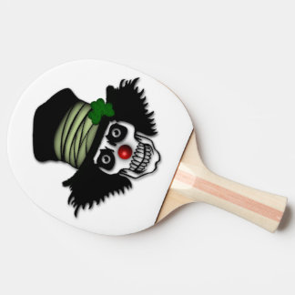 Irish Skeleton Clown Ping-Pong Paddle