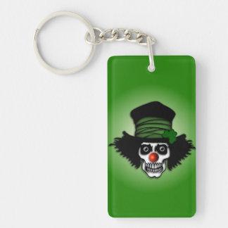 Irish Skeleton Clown Single-Sided Rectangular Acrylic Keychain