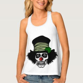 Irish Skeleton Clown Tank Top
