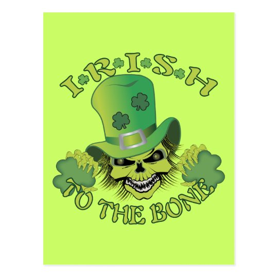 Irish Skull Postcard