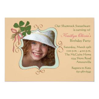 Irish Smile - Photo Birthday Party Invitation