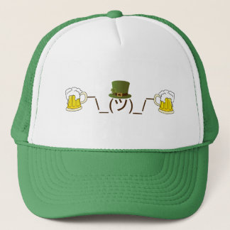 Irish Smugshrug Holding Beer Trucker Hat