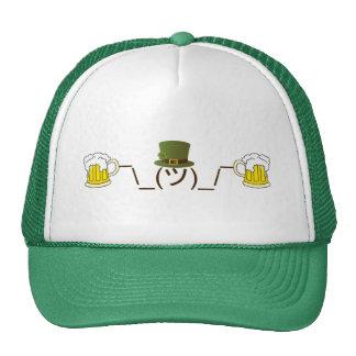 Irish Smugshrug Holding Beer Trucker Hat