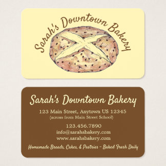 Irish Soda Bread Loaf Bakery Pastry Chef Food Business Card